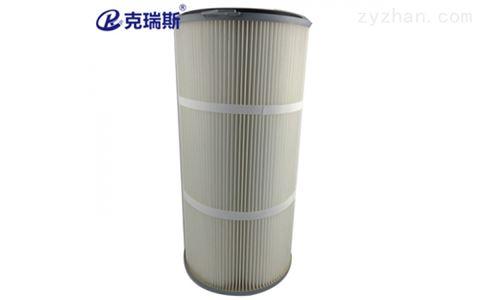 喷砂/抛丸机除尘滤芯覆膜除尘滤筒 350x240x700