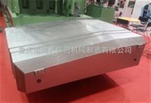 加工中心钢板伸缩式防护罩