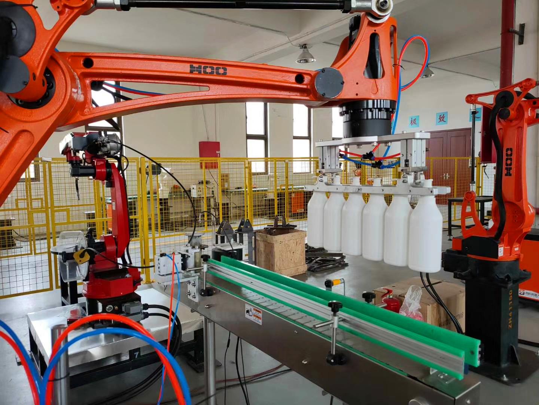 哈尔滨某企业机器人自动装箱生产线